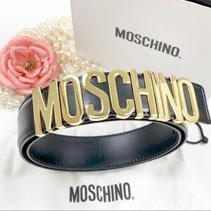 Moschino Belt Size 42 Black